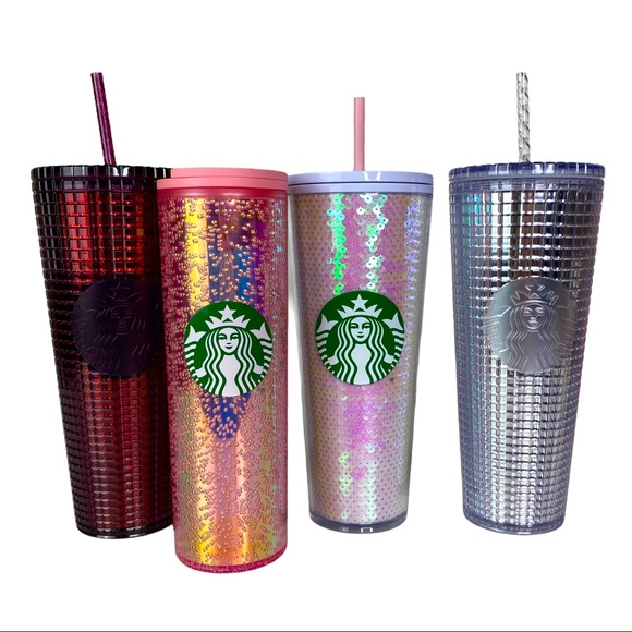 Set of 4 2020 Starbucks Holiday Cups Tumblers